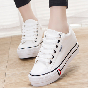 2019 soil tide shoes ins canvas shoes women's shoes increase 2020 new spring models with skirts wild white