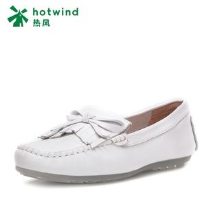 17春新款热风单鞋豆豆鞋女中口流苏圆头女士休闲鞋H10W7105
