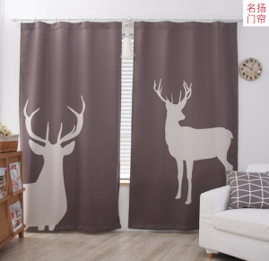 Korean IKEA simple cotton and linen curtains finished products custom home children's room shade curtains bedroom partition curtains