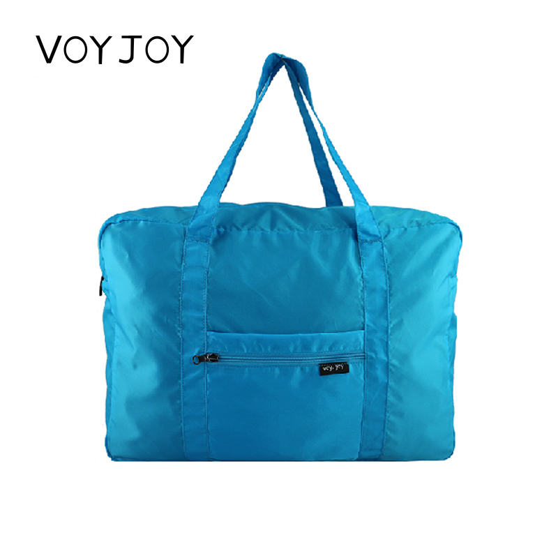 VOYJOY男女可折叠短途旅游行李袋防水大容量旅行包尼龙可套拉杆箱