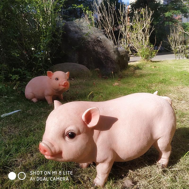 小猪摆件家居装饰品庭院花园雕塑动物模型场景小品个性礼物工艺品