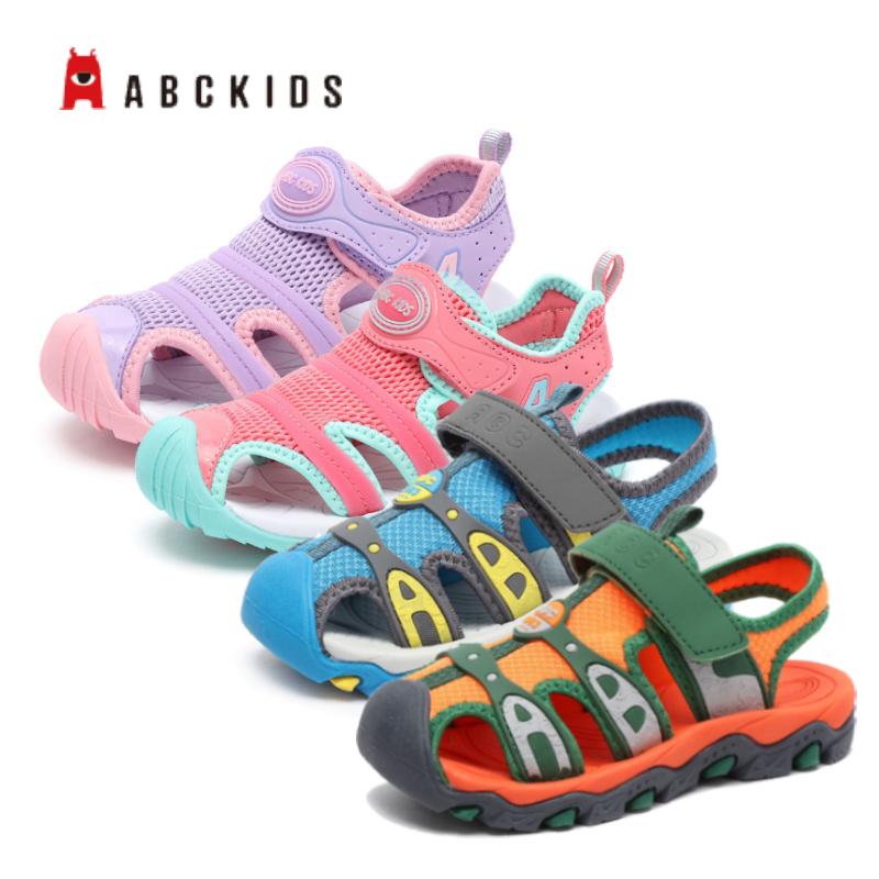 abckids童鞋 男童女童凉鞋新款韩版夏季儿童软底沙滩鞋防滑鞋子