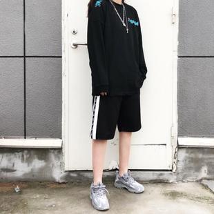 【现货】ICEREVERIE直筒舒适宽松街头百搭基础织带刺绣串标短裤潮