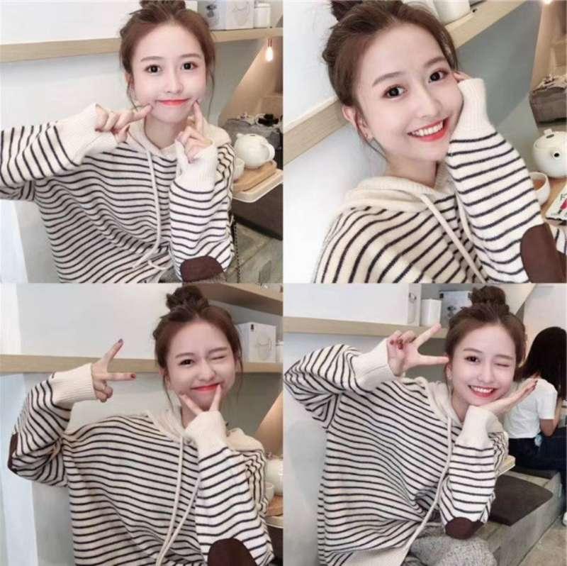 2020年秋冬大码女装韩版网红针织上衣两件套女胖妹妹显瘦套装洋气-小柠檬-