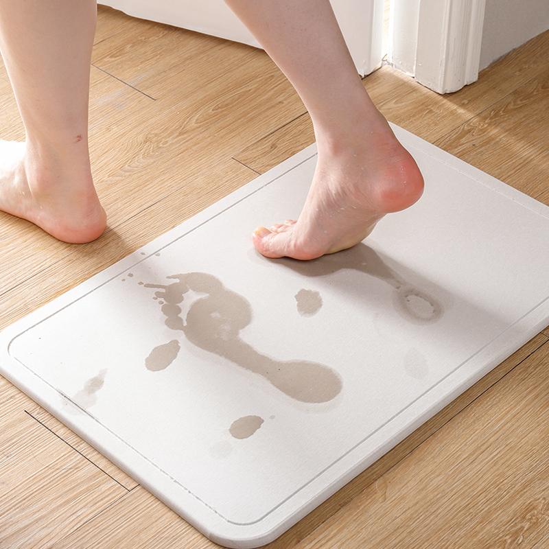 日本天然硅藻土硅藻泥吸水脚垫卫浴室淋浴房卫生间防滑垫速干地垫