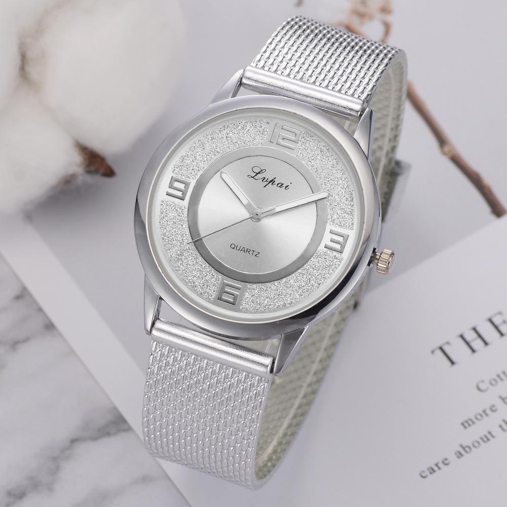韩版流行散粉手表 LVPAI品牌时尚创意个性硅胶石英表现货