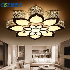 2019 new led living room lamp home decoration round 1.2 meters warm bedroom lotus ceiling lamp round lamp