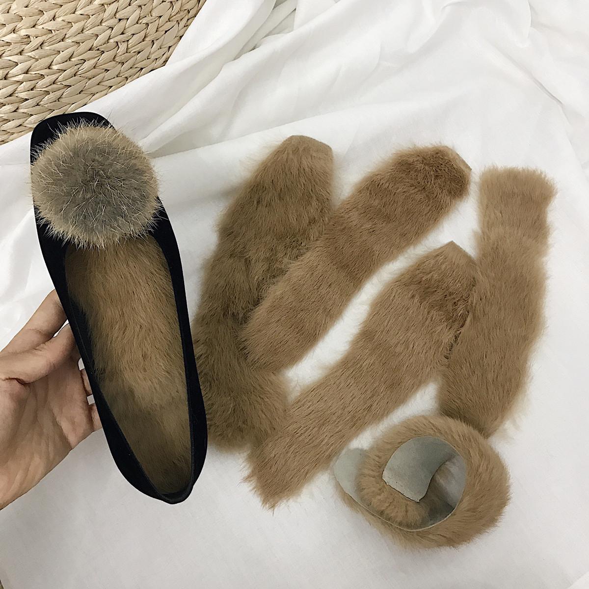 冬季皮毛一体兔毛鞋垫毛毛长毛保暖皮鞋垫单鞋靴子都可以加~