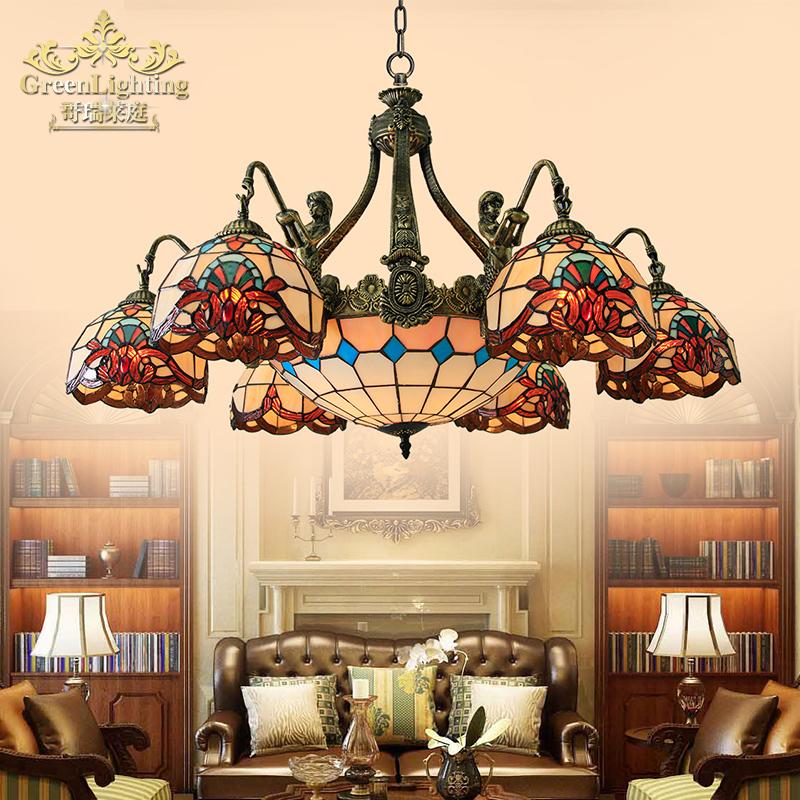 欧式客厅吊灯大气 地中海风格吊灯卧室 巴洛克房间复古个性美人鱼-哥瑞莱庭旗舰店