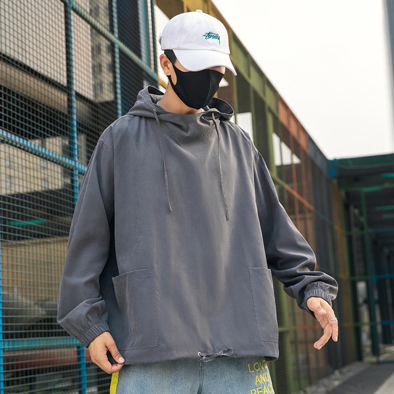 秋冬季新款工装夹克男士韩版外套宽松休闲套头百搭夹克ZK8201-P50