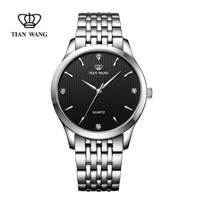 King watches authentic steel belt couple watch men and women casual simple quartz watch 3798