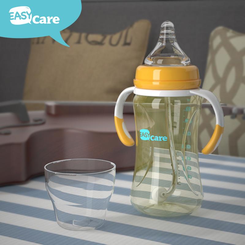 伊斯卡尔婴儿PPSU奶瓶宝宝宽口吸管奶瓶新生儿防胀气奶瓶防摔奶瓶