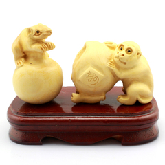 2016 monkey monkey 222 Zodiac pig Dragon wearing a Peter di age of mice long expensive mice offer peach Sanhe decoration