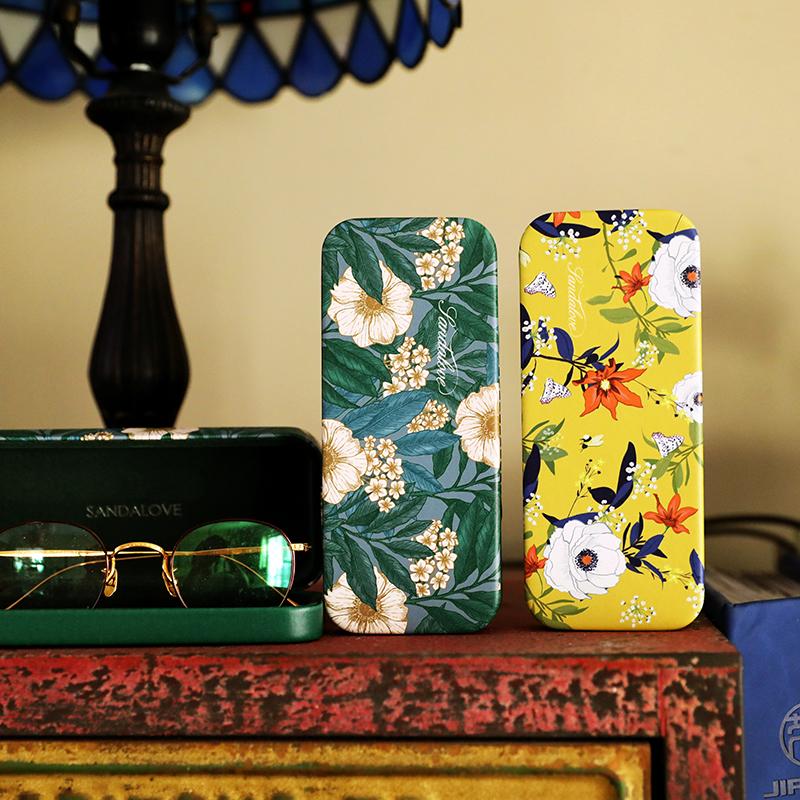 眼镜盒ins 少女便携不走寻常路简约眼睛盒防压收纳盒 GM太阳镜盒