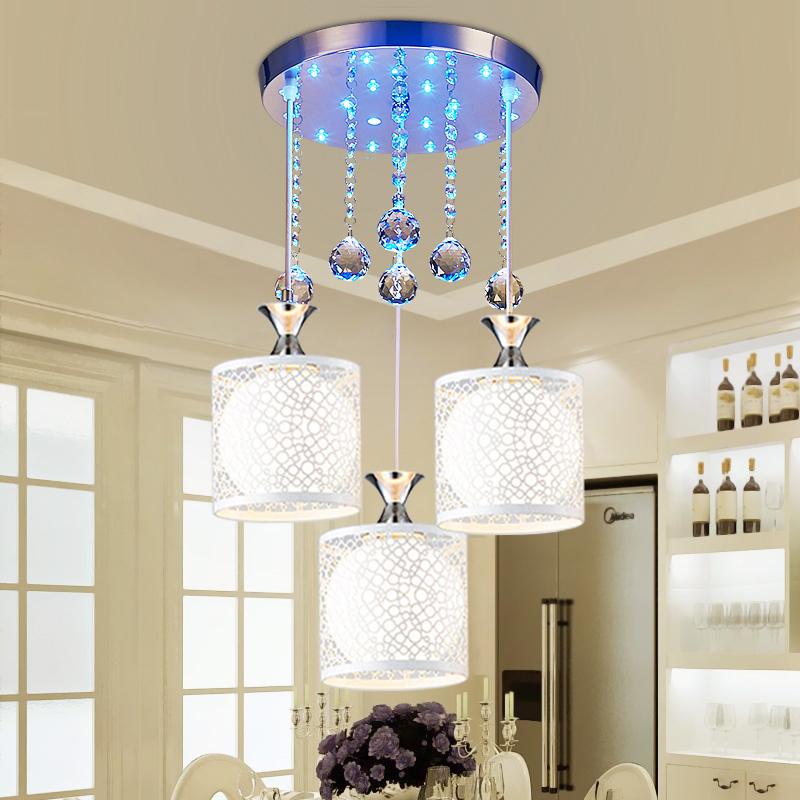 餐厅吊灯现代简约三头创意个性水晶吧台餐桌灯具家用饭厅餐吊灯饰-品佳灯饰