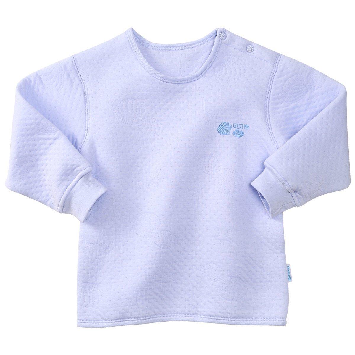 贝贝怡男童女宝宝内衣纯棉加厚夹棉0秋冬2婴儿保暖上衣单件1-3岁