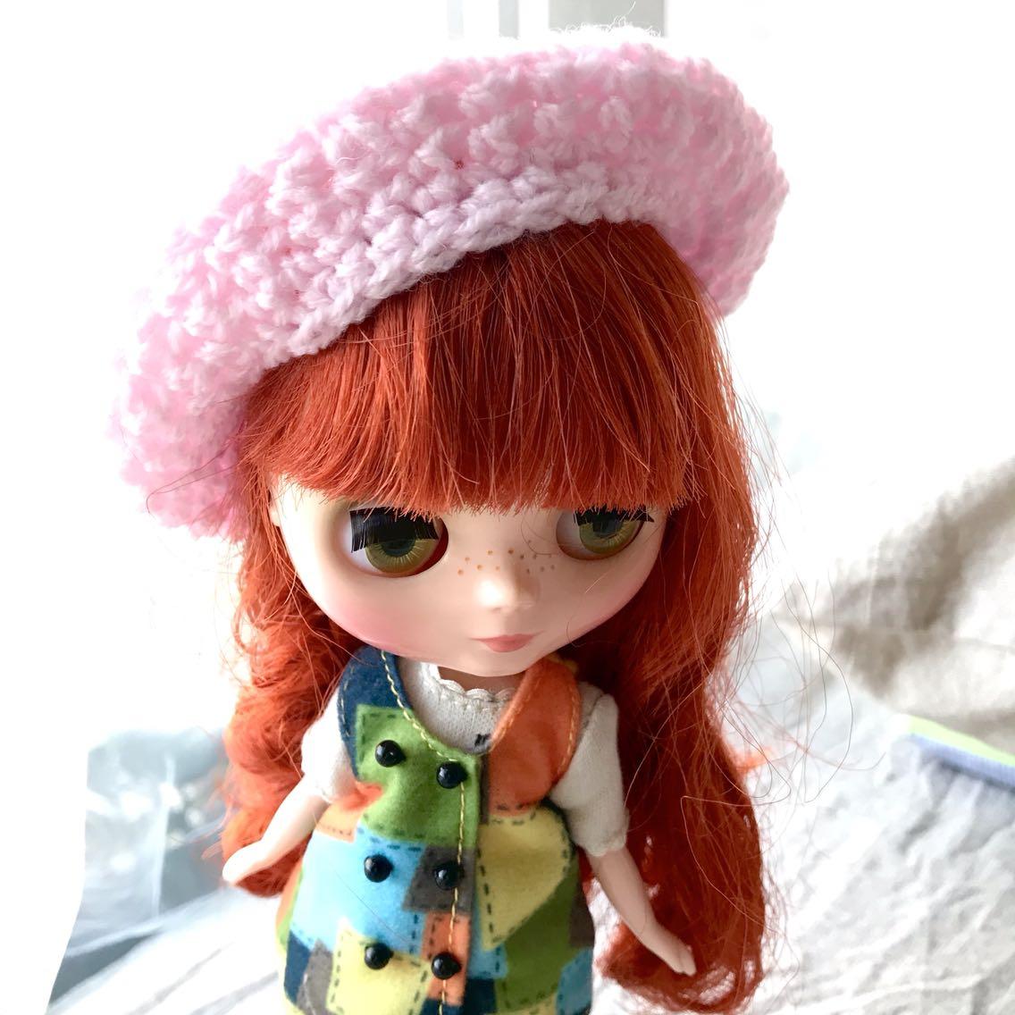 BJD娃娃专区球型关节人偶6分sd 娃blythe小布儿服饰手织小毛线帽