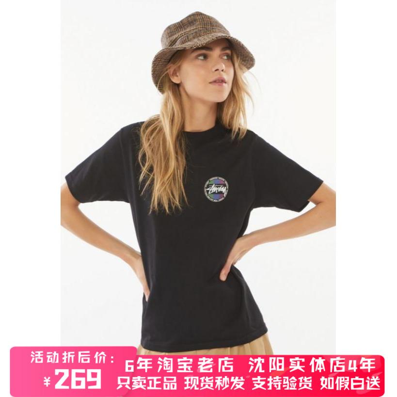 现货 Stussy 斯图西 Surf Dot 经典图案Logo 圆领T恤 Stussyt恤女