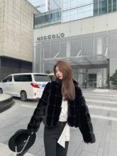 黑色仿皮草外套女2020年秋冬mo12款毛毛sa搭休闲毛绒绒外套