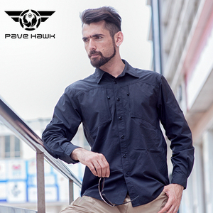 Pave Eagle Quick-Dry Shirt Loose Autumn Outdoor Shirt Breathable Male Long Sleeve Large Size Army Fan Tactical Clothing