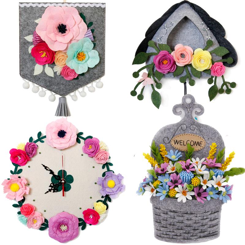 家居收纳置物壁挂 门墙挂花盆 创意不织布手工diy制作成人 材料包