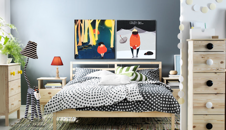 斑點風、豹紋風,色調控,最現代的展示,最有色彩的搭|臥室