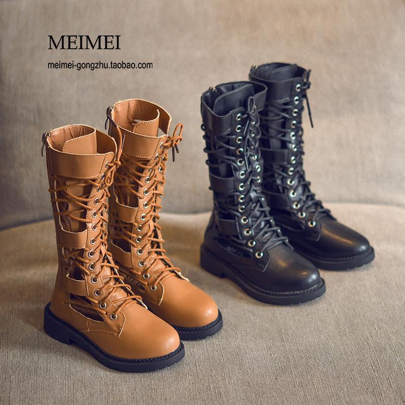 女童长靴2018秋季新款儿童高筒靴中大童马丁靴韩版时尚小女孩靴子