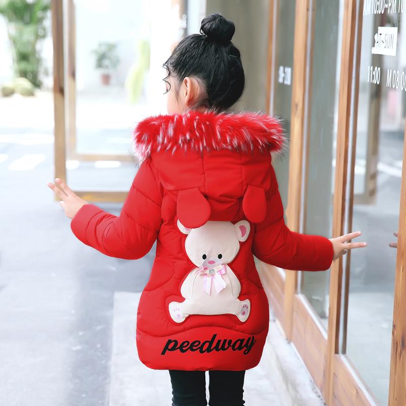 天天特价女童棉衣外套冬装中大童儿童加厚棉袄中长款宝宝羽绒棉服