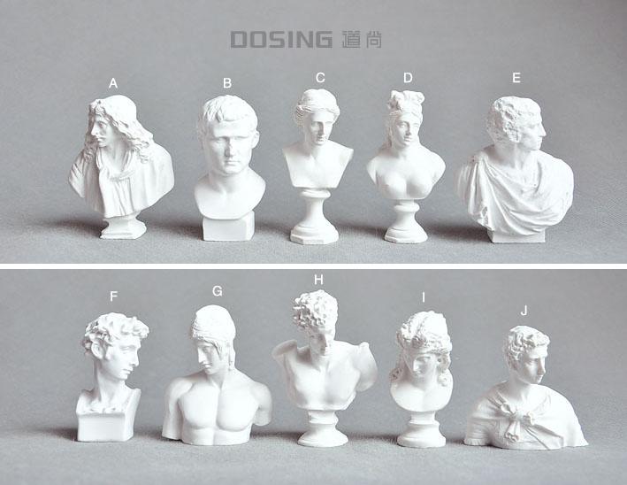 日本YUJIN出品 正版散货 仿真微缩模型 微小 石膏头像 美术 手办 公仔 模型 摆件 人偶
