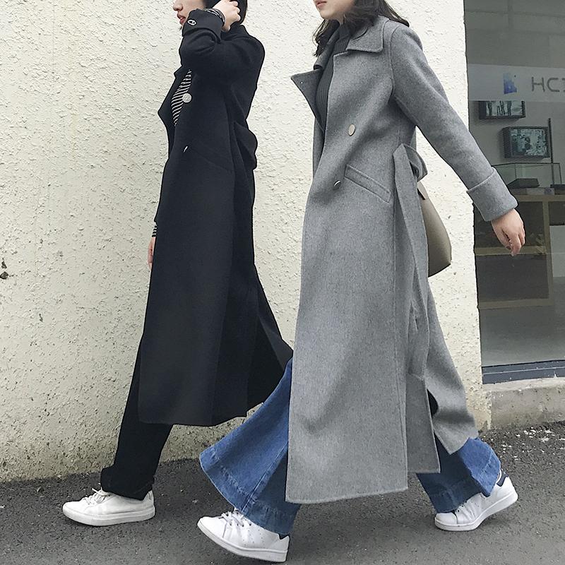 元一自制 秒变超模 细节控卖品质双面羊绒大衣超
