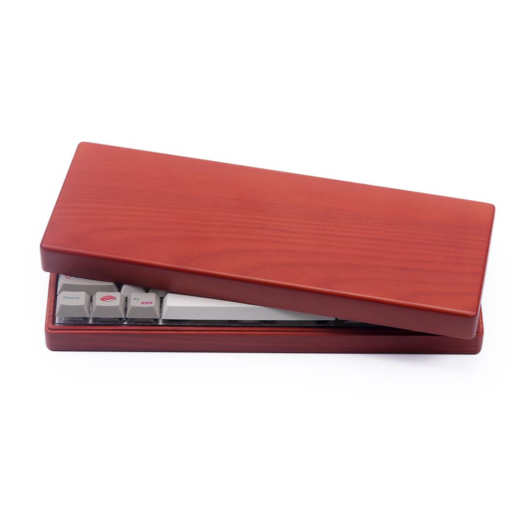 客制化机械键盘鸡翅木外壳底座GH60键盘外壳红花梨poker2底座通用