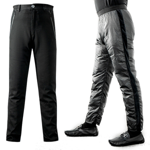 Men's One-Pants Three-Wear Liner Removable Down Pants Middle-aged and Old People Large Stretch Straight Thicken Warm 95 Goose Down Pants