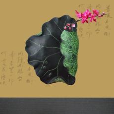 印家轩 现代新中式卧室壁饰花插-荷塘初夏 壁挂式花瓶 特价包邮