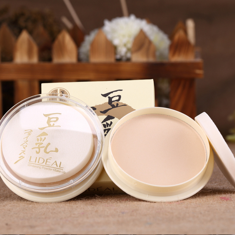 灵点LIDEAL豆乳粉饼 遮瑕定妆豆乳粉饼 修容白皙彩妆控油保湿蜜粉