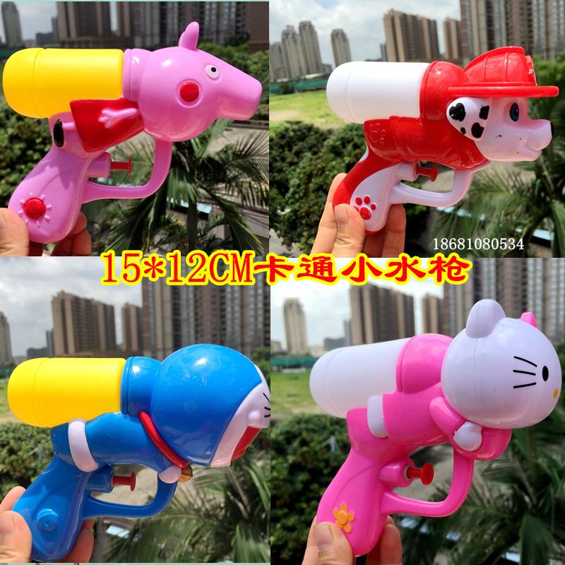 幼儿童迷你欢乐小水枪 宝宝戏水呲水枪小猪KT小狗3-6岁洗澡玩具枪