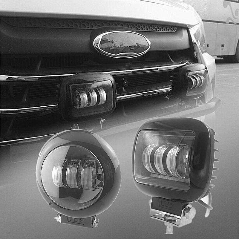 30W龙版汽车LED射灯越野车前杠机顶盖改装灯雾灯日行灯12V24V通用