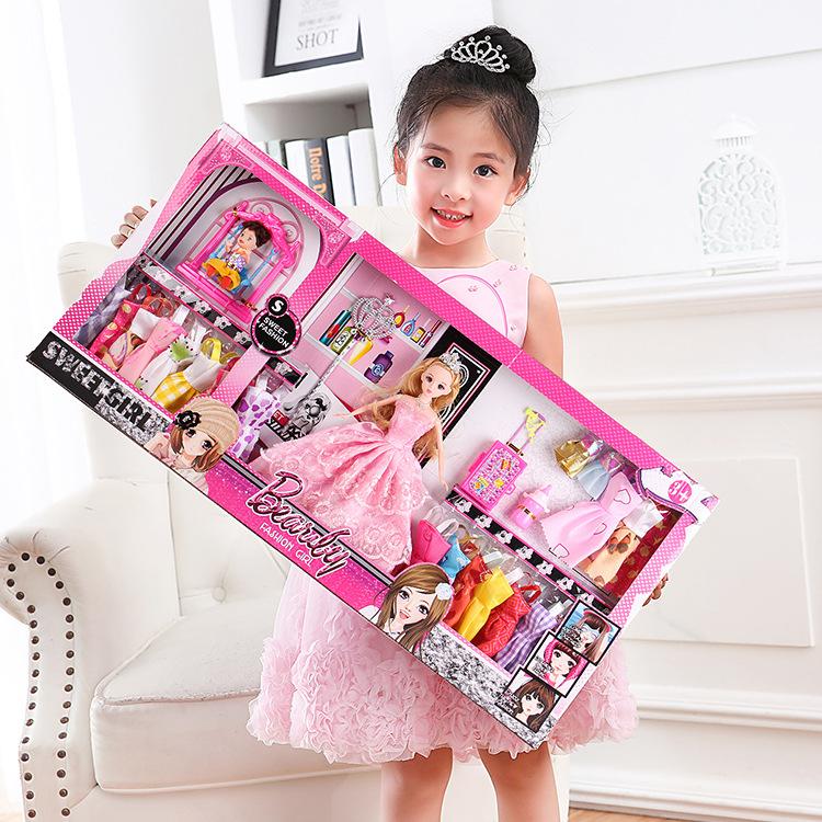 洋娃娃【73/60厘米】过家家女孩玩具巴比公仔大礼盒套装