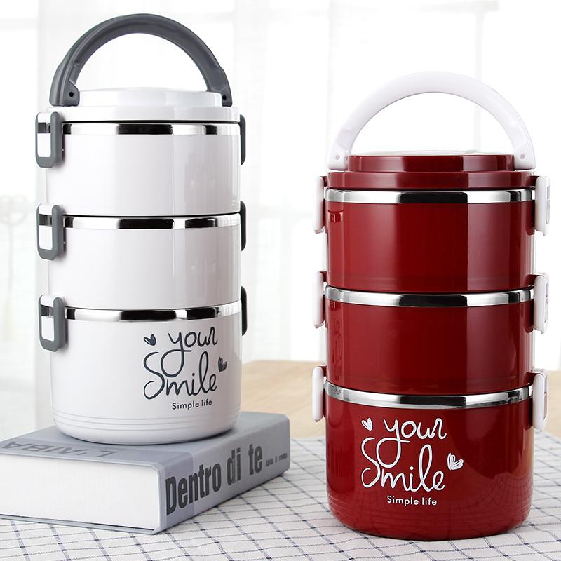 304不锈钢多层保温饭盒大容量手提学生4上班族3便当盒2保温桶饭桶