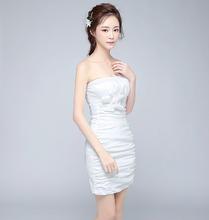 新式宴会晚礼服大气抹胸性感礼服mi12主持的ei名媛(小)礼服
