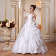 2015 new Korean style bridal Princess wedding dress was thin straps wedding flowers wedding sweet yarn