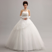2015 summer new original Korean style Princess diamond lace sequined lace and strap wedding dress