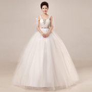 2015 new Korean fashion wedding dresses bride wedding toast to white summer suit studded lace align-