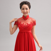 2015 new Korean version of annual toast clothing dresses women dress the Bride dresses party dress suit skirt Red