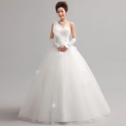 Wedding gowns 2015 new stylish Xie Qi Korean Princess band, one-shoulder flower wedding bride