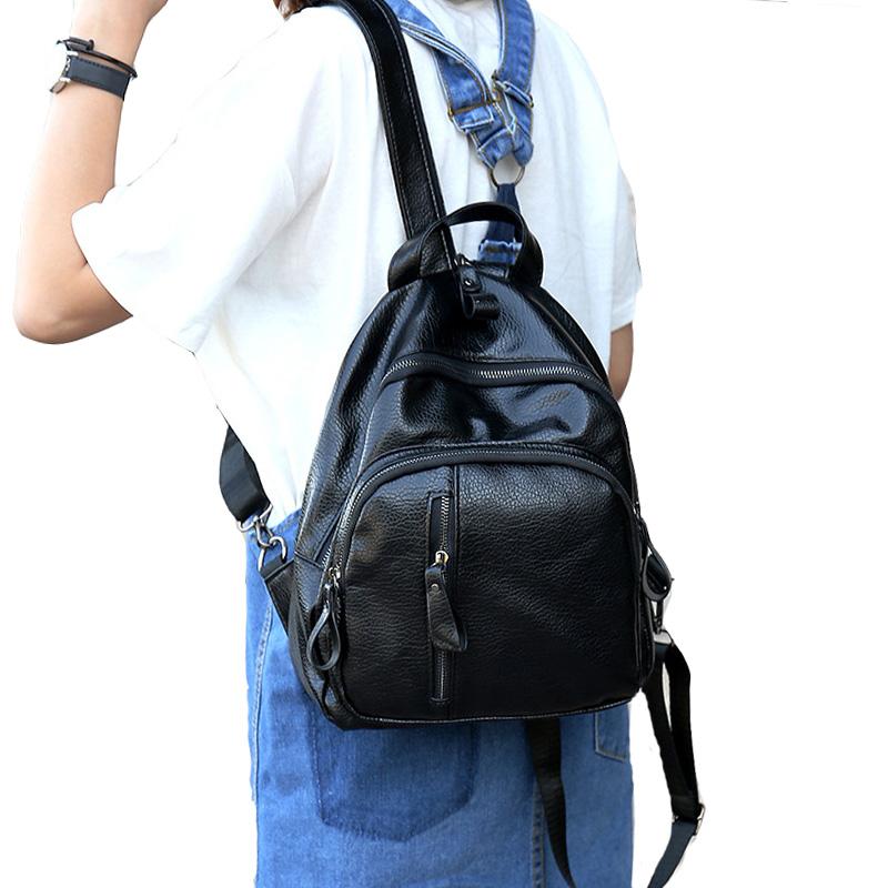 【天天特价】迷你mini小背包双肩包女简约百搭街头包包小包pu包包