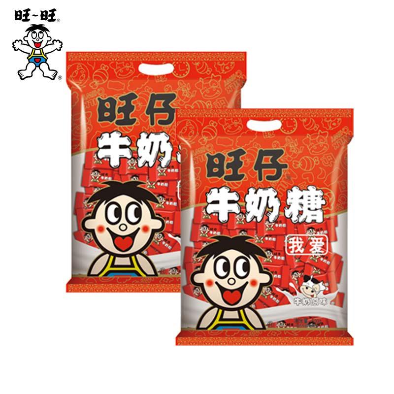 旺旺旺仔牛奶糖500g*2包零食糖果喜糖满月结婚送礼约300颗