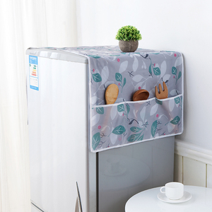 Refrigerator dust cover waterproof small fresh home refrigerator cover towel storage bag washing machine table dust cover cloth hanging bag