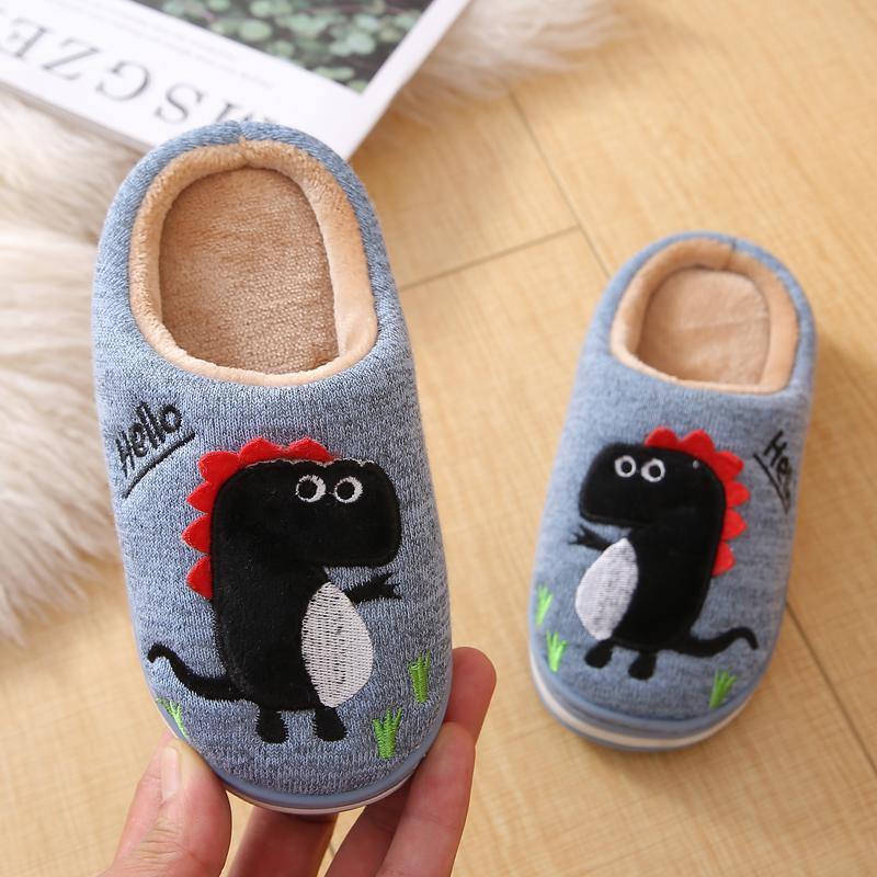 男童棉拖鞋儿童冬季居家女童可爱防滑大童小孩宝宝厚底保暖棉拖鞋