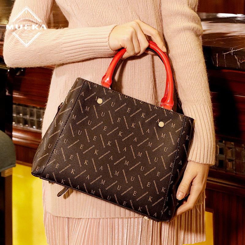 Mueka 包包女2019春季新款品牌女包中年妈妈包大气女士单肩手提包