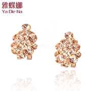 Ya na genuine girl chic studded fashion Korea earrings Korean ear nail ear clip full drill dn13